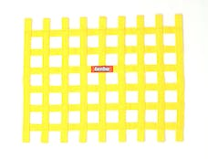 "Racequip 721035 Non-SFI Ribbon-Style Race Car Window Net (Yellow, 18""x24"")"
