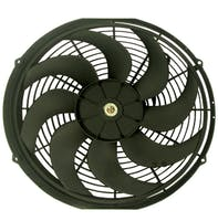 """RPC (Racing Power Company) R1016 16"""" universal cooling fan w/curved blades 12v"""