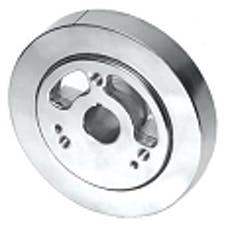 """RPC (Racing Power Company) R3861 6.75"""" POLISHED STAINLESS STEEL DAMPER"""