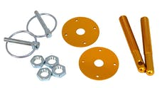 RPC (Racing Power Company) R4050 ALUM HOOD PIN KIT ANODIZE GOLD COLOR