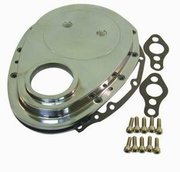 RPC (Racing Power Company) R6040 Alum sbc timing chain cover-pol