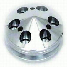 RPC (Racing Power Company) R9487POL Aluminum alternator pulley/nose v-belt -polished