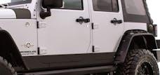Rampage Products 110082 Rhino Linings Rocker Guards Small Black