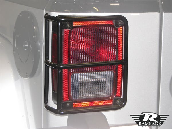 Rampage Products 88660 Tail Light Guards; Black Pair