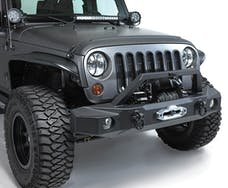 Rampage Products 99510 TrailGuard Front Bumper; w/Winch Plate; incl. D-Rings; Black