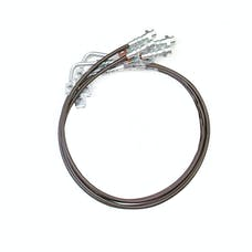 "ReadyLift 47-6445 6"" Front and Rear Braided Stainless Steel Brake Lines"