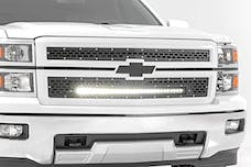 Rough Country 70103 Chevy Mesh Grille w/30in Black Series LED (14-15 Silverado 1500)