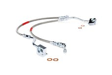 Rough Country 89310S Front Extended Stainless Steel Brake Lines for 4-6-inch Lifts