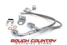 Rough Country 89707 Front Extended Stainless Steel Brake Lines for 4-6-inch Lifts