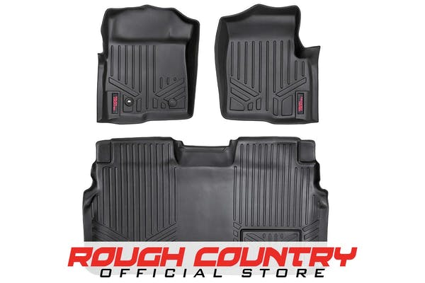 Rough Country M-50912 Heavy Duty Floor Mats - Front & Rear Combo (SuperCrew Cab Models)