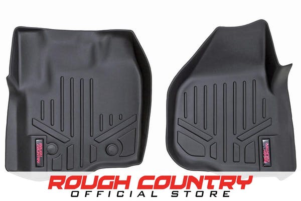 Rough Country M-5121 Heavy Duty Floor Mats - Front Set (Raised Pedal)
