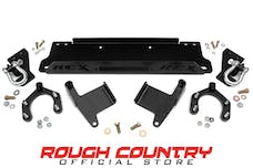 Rough Country 1173 Jeep Wrangler JK/JKU Factory Bumper Winch Mounting Plate (Includes D-Rings)