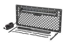 Rough Country 10535 Laser-Cut Mesh Grille w/ 20-inch Black Series Single Row CREE LED Light Bar