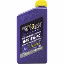 Royal Purple 01540 5W-40 Passenger Car Engine Oil Qt. Bottle