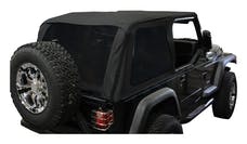 RT Offroad BRT10035 Black Diamond Bowless Replacement Top w/ Tinted Windows for 97-06 TJ w/o Unltd.