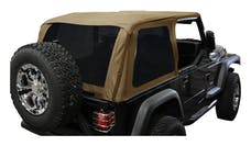 RT Offroad BRT10037 Spice Diamond Bowless Replacement Top w/ Tinted Windows for 97-06 TJ w/o Unltd.