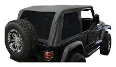 RT Offroad BRT10135T Black Diamond Bowless Replace-A-Top w/ Tinted Windows for 1992-95 YJ Wrangler