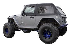 RT Offroad BRT20035T Black Sailcloth Bowless Soft Top w/ Tinted Windows for JK Wrangler w/ 2 Door