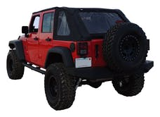 RT Offroad BRT20135T Black Sailcloth Bowless Soft Top w/ Tinted Windows for JK Wrangler w/ 4 Door