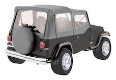 RT Offroad RT10009 Gray OEM Replacement Soft Top for 1988-95 YJ Wrangler w/ Soft Upper Doors