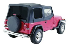 RT Offroad RT10015T Black OEM Replacement Soft Top for 1988-95 YJ Wrangler w/ Soft Upper Doors