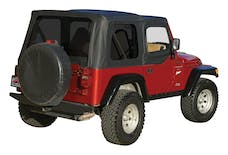 RT Offroad RT10335T Black OEM Replacement Soft Top for 1997-06 TJ Wrangler w/ Soft Upper Doors