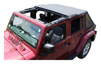 RT Offroad RT10735T Black Diamond Bowless Soft Top w/ Tinted Windows for 07-18 JK Wrangler w/ 2 Dr.