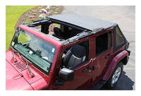 RT Offroad RT10835T Black Diamond Fold-Back Sunroof Bowless Softop for Jeep JK Wrangler w/ 4-Doors