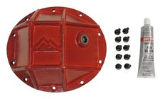 RT Offroad RT20025 Heavy Duty Dana 35 Differential Cover for Jeep Models w/ D35 Rear Axle; Red