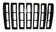 RT Offroad RT26043 7-Piece Black Grille Insert Set for 1997-2006 Jeep TJ Wrangler (Snap-In)