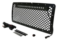 RT Offroad RT28040 Aluminum Grille w/ 20 Inch LED Light Bar Kit for 2007-2018 Jeep JK Wrangler