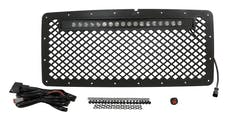 RT Offroad RT28041 Black Stainless Steel Grille w/ LED Light Bar Kit for 2007-2018 Jeep JK Wrangler