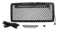RT Offroad RT28041 Black Stainless Steel Grille w/ LED Light Bar Kit for 2007-2018 Jeep JK Wrangler
