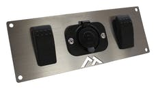 RT Offroad RT29007 Switch Plate w/ 1 Power Socket and 2 Rocker Switches for Universal Applications