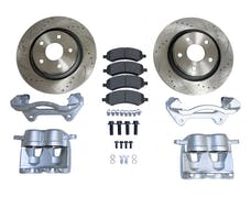 """RT Offroad RT31047 Front Big Brake Kit w/ 13"""" Drilled & Slotted Rotors for 07-18 Jeep JK Wranglers"""