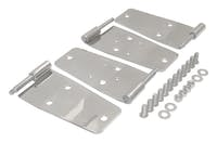 RT Offroad RT34008 Door Hinge Set, Left & Right Front Upper & Lower, Polished SS, Door Side