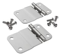 RT Offroad RT34035 Polished Stainless Steel Lower Tailgate Hinge Set for 1976-1986 Jeep CJ-7, CJ-8
