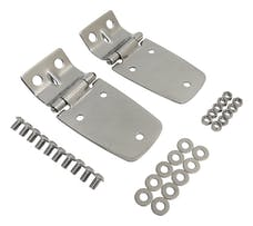 RT Offroad RT34057 Polished Stainless Steel Hood Hinge Set for 97-06 Jeep TJ Wrangler