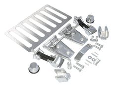 RT Offroad RT34077 7-Piece Chrome Plastic Grille Inserts for Jeep JK Wrangler; Snap-In Pieces