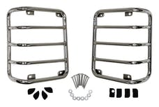 RT Offroad RT34080 Stainless Steel Tail Light Guard Set for 07-18 Jeep JK Wrangler; Incl. Hardware
