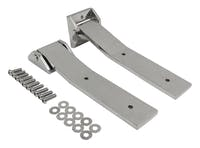 RT Offroad RT34082 Stainless Tailgate Hinge Set, Upper & Lower for Jeep 2007-2018 JK Wrangler