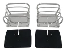 RT Offroad RT34090 Stainless Steel Euro Tail Lamp Guards for 76-86 CJ-7, CJ-8, YJ, TJ Wrnglrs; L,R