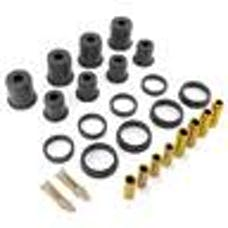 Rugged Ridge 1-805BL Shackle Bushing Kit; Black; 55-75 Jeep CJ5