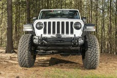 Rugged Ridge 11549.04 Arcus Front Bumper, w/ Winch Tray & Tow Hooks