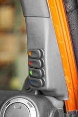Rugged Ridge 17235.97 A-Pillar 4 Switch Pod Kit, Black Right