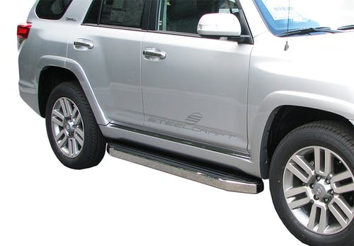 Steelcraft 133800 STX100 Running Boards, Black/Stainless Trim