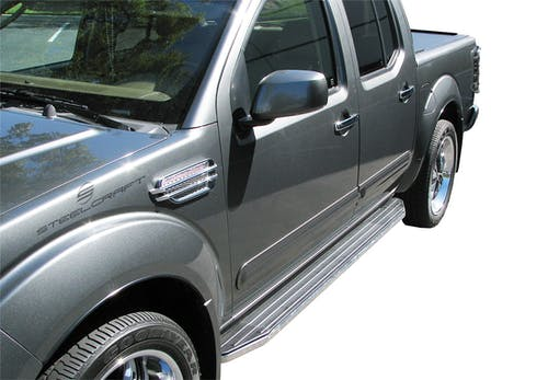 Steelcraft 140950 STX100 Running Boards, Black/Stainless Trim
