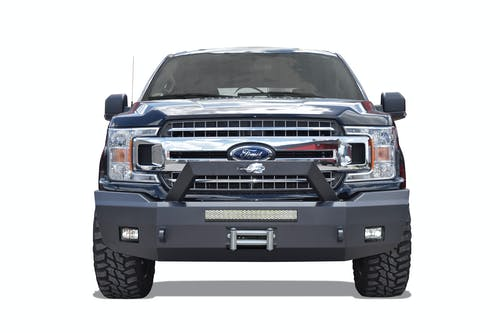Steelcraft 70-11420 Elevation Bullnose Front Bumper, Textured Black