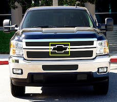 T-Rex Grilles 19115B Emblem Exterior Trim, Black, Aluminum, 1 Pc, Bolt-On