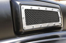 T-Rex Grilles 6710840 X-Metal Side Vent, Polished, Stainless Steel, 1 Pc, Replacement